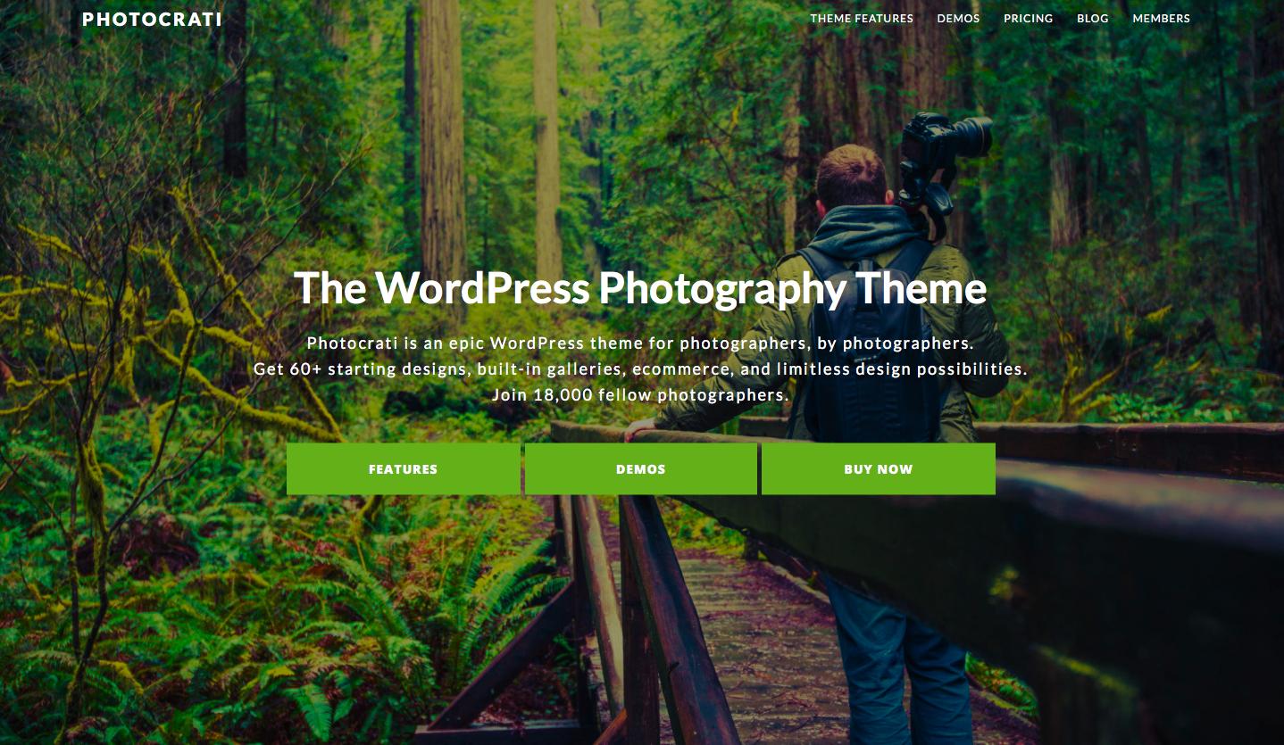 Photocrati - best wordpress photography themes