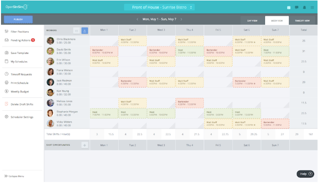 free employee scheduling software