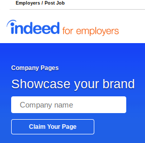 indeed company pages