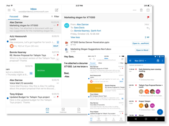 Microsoft Exchange - best business email provider
