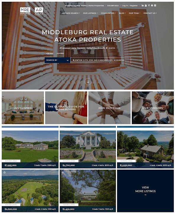 Middleburg Real Estate - best real estate agent websites