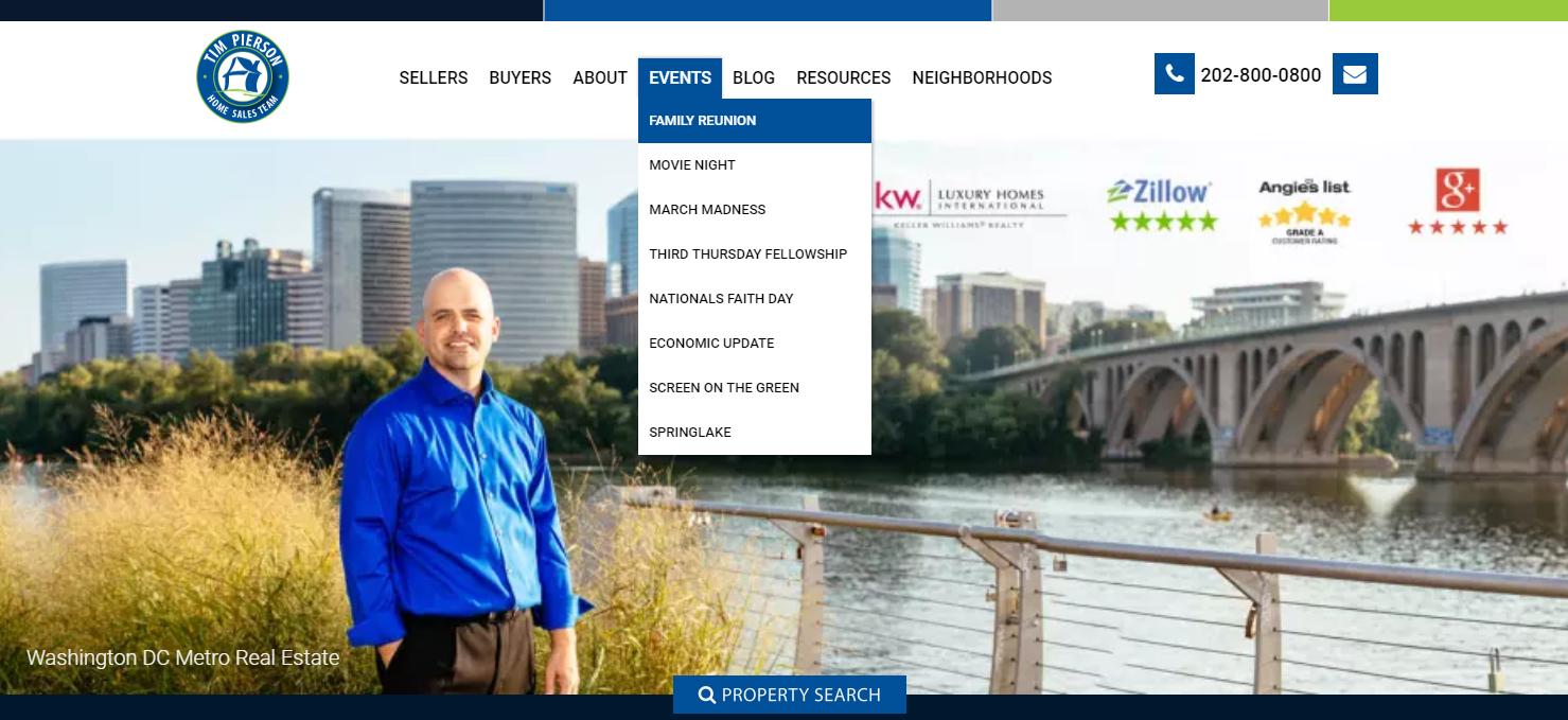 Tim Pierson Home Sales Team - best real estate agent websites