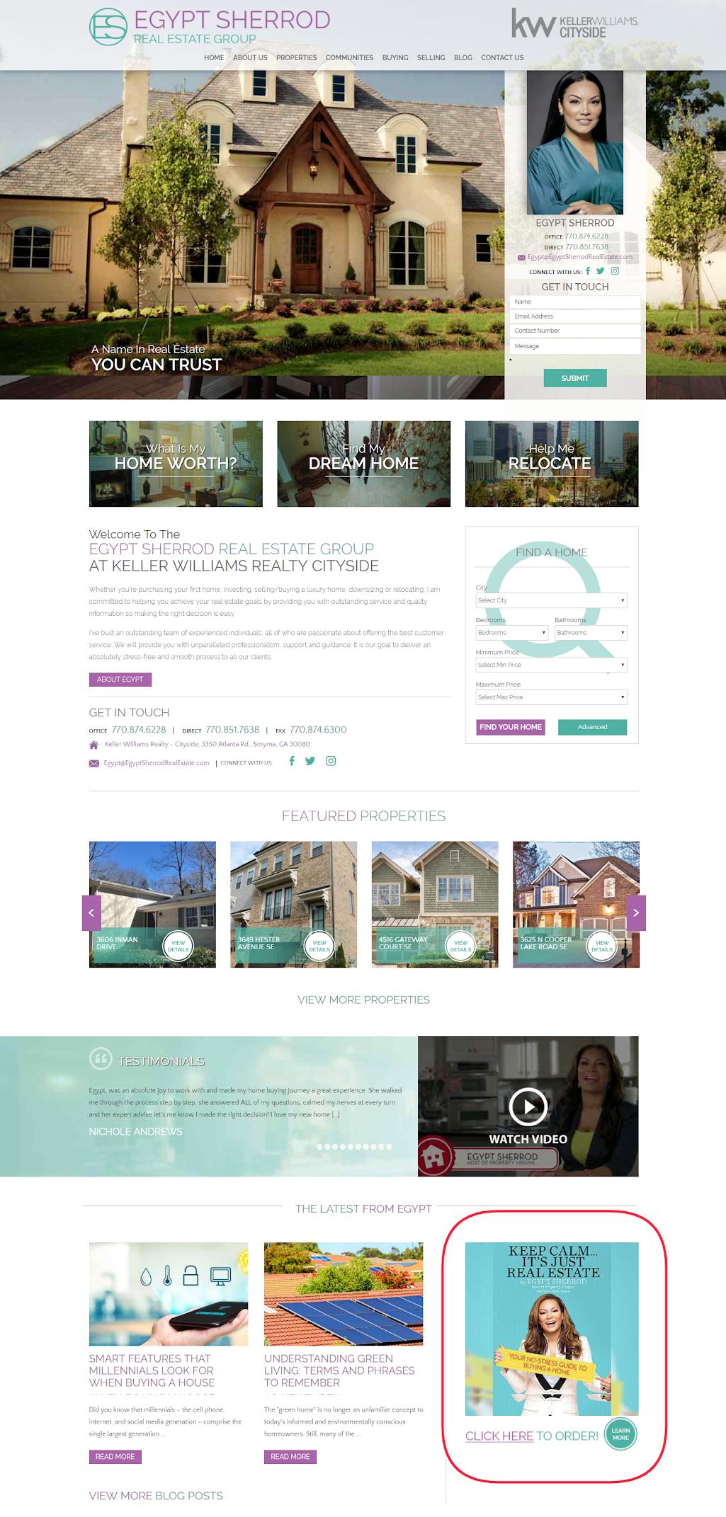 Egypt Sherrod Real Estate Group - best real estate agent websites