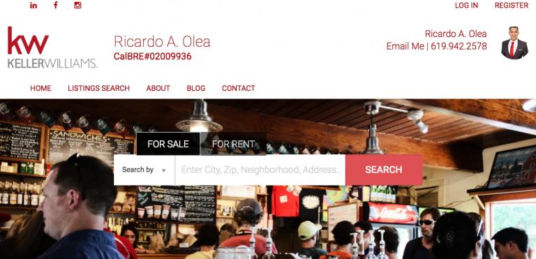 Ricardo Olea - best real estate agent websites