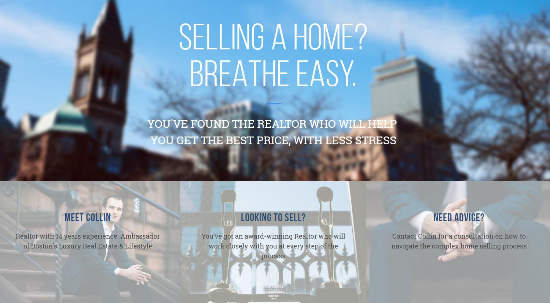 Collin Bray - best real estate agent websites