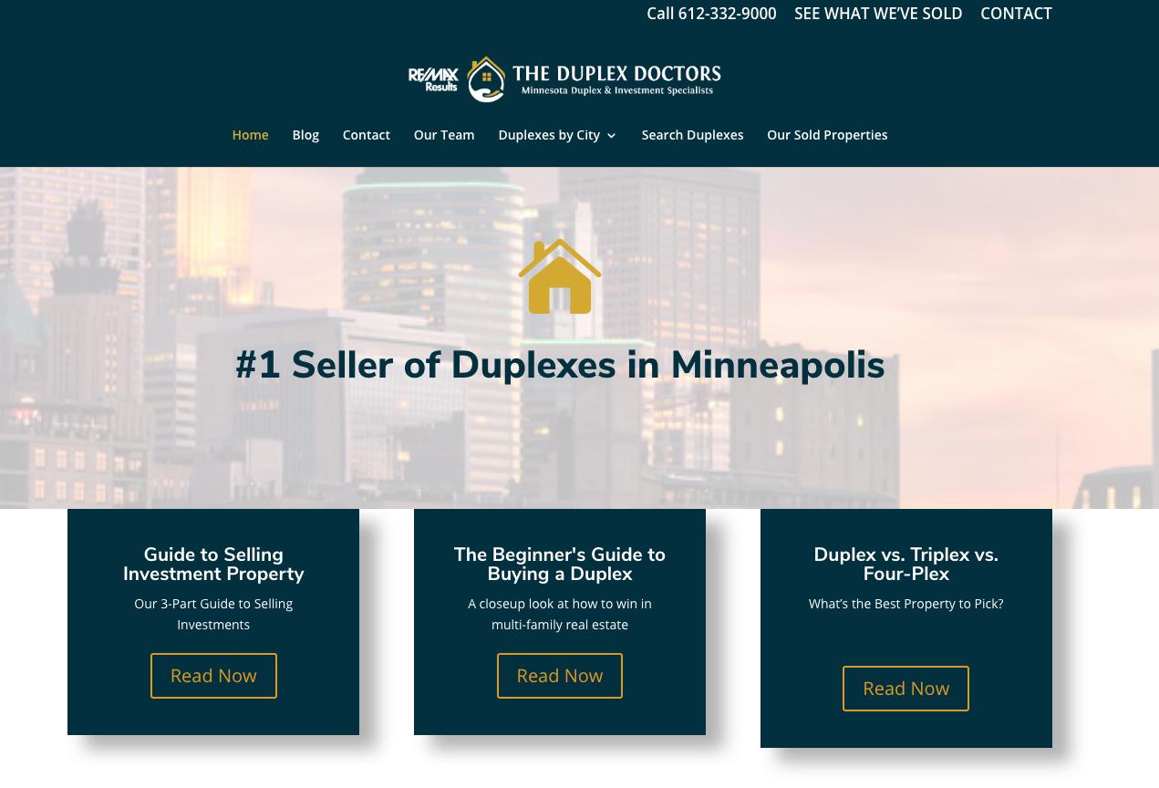 The Duplex Doctors - best real estate agent websites