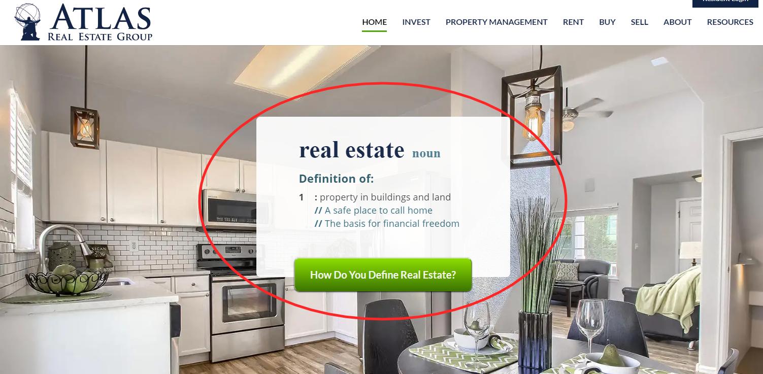 Atlas Real Estate Group - best real estate agent websites