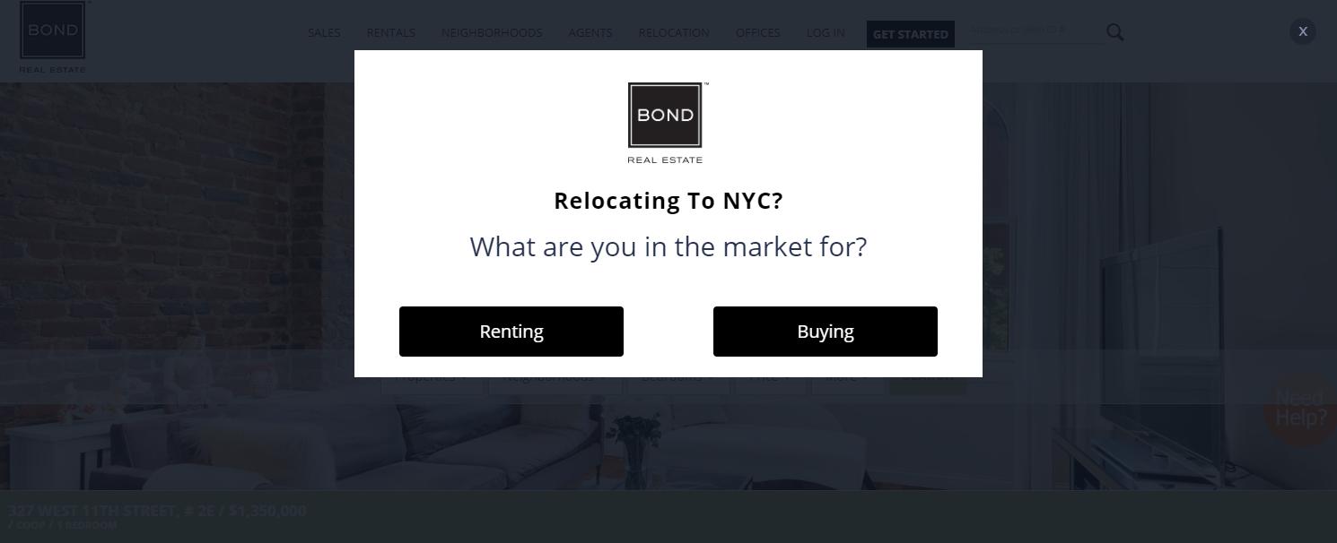 Bond Real Estate - best real estate agent websites