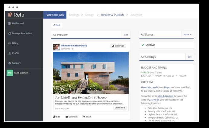 Rela - single property websites