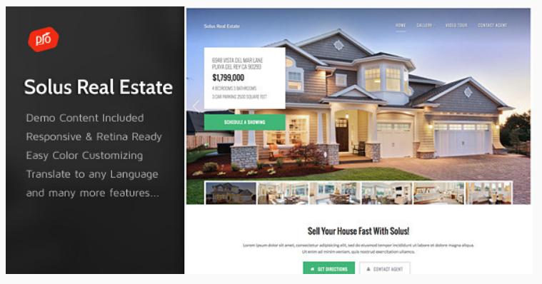 WordPress Theme - single property websites