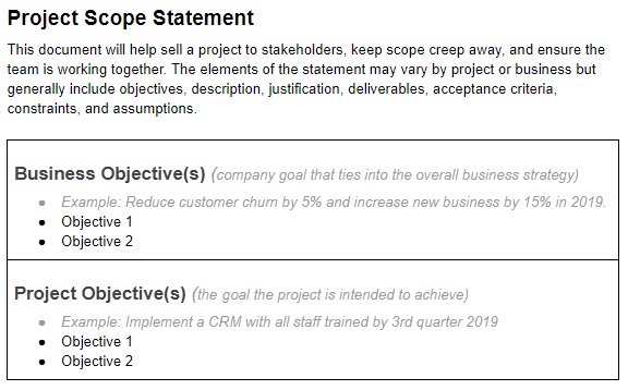 Project Scope Statements - how to create a project timeline