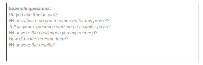 open-ended questions - request for proposal