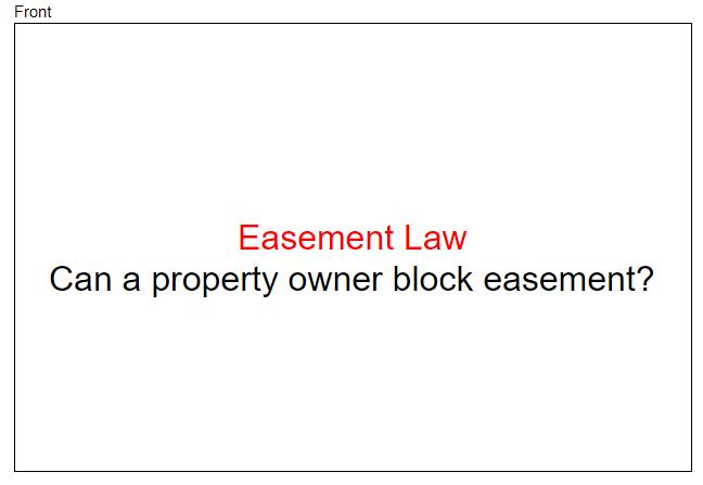 Easement Law