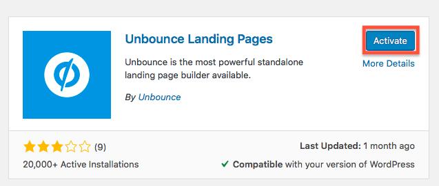 Unbounce Plugin - landing page