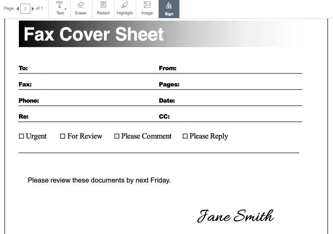 Microsoft Fax Cover Sheet Template Free from fitsmallbusiness.com