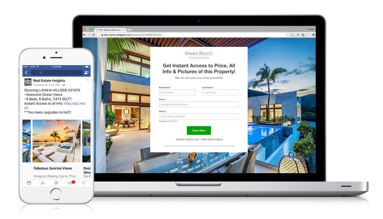 Real Geeks Facebook Marketing Tool - best real estate lead generation websites