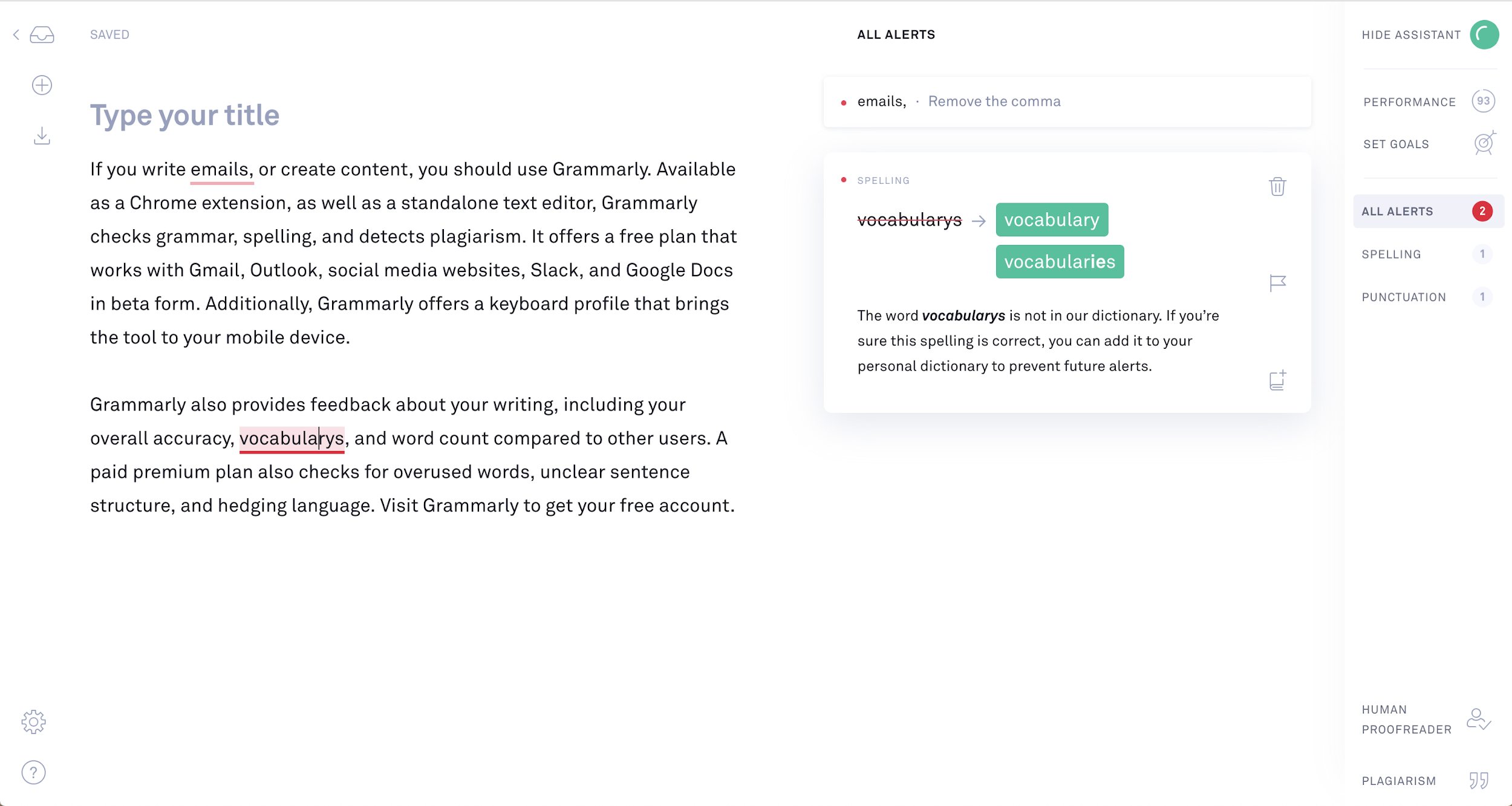Grammarly - free sales tools