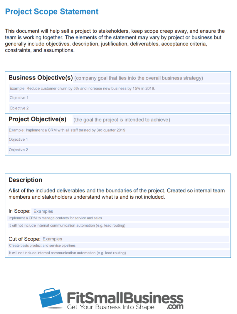 Free Project Scope Document Template - how to create a project timeline