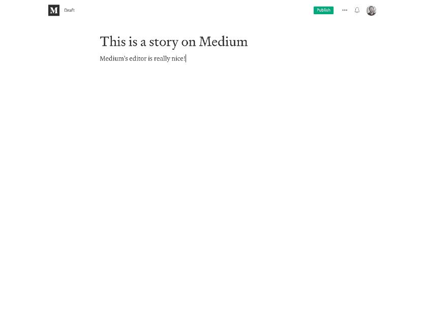 Medium page editor