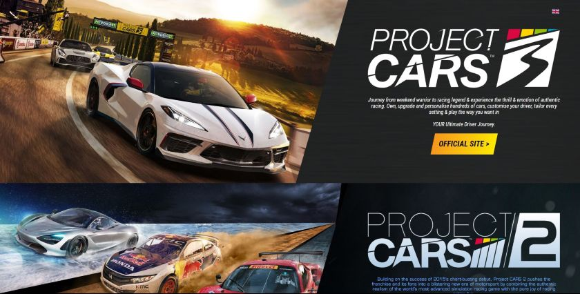 Project Cars video game series website