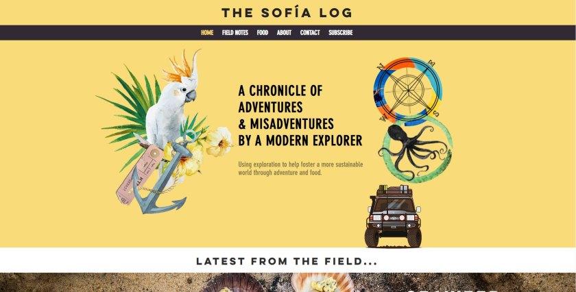 The Sofia Log website
