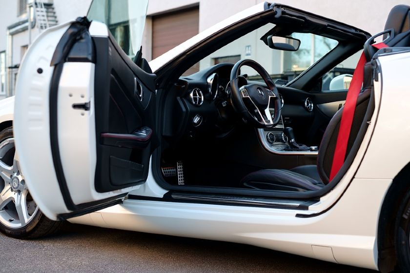 The Front Open Door Of Modern Luxury Car
