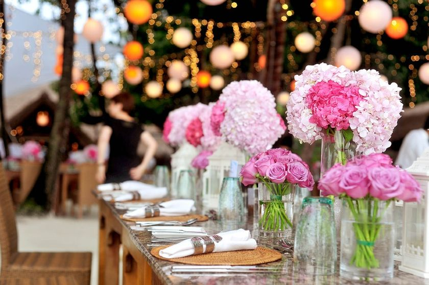 able setting at a luxury catered event