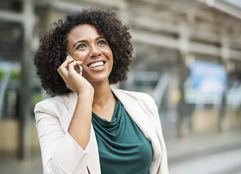 woman calling on her phone