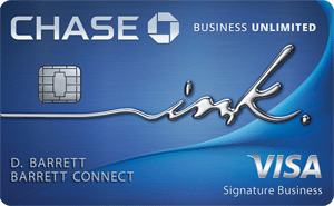 Chase Ink Business Unlimited Card - business credit cards for new business