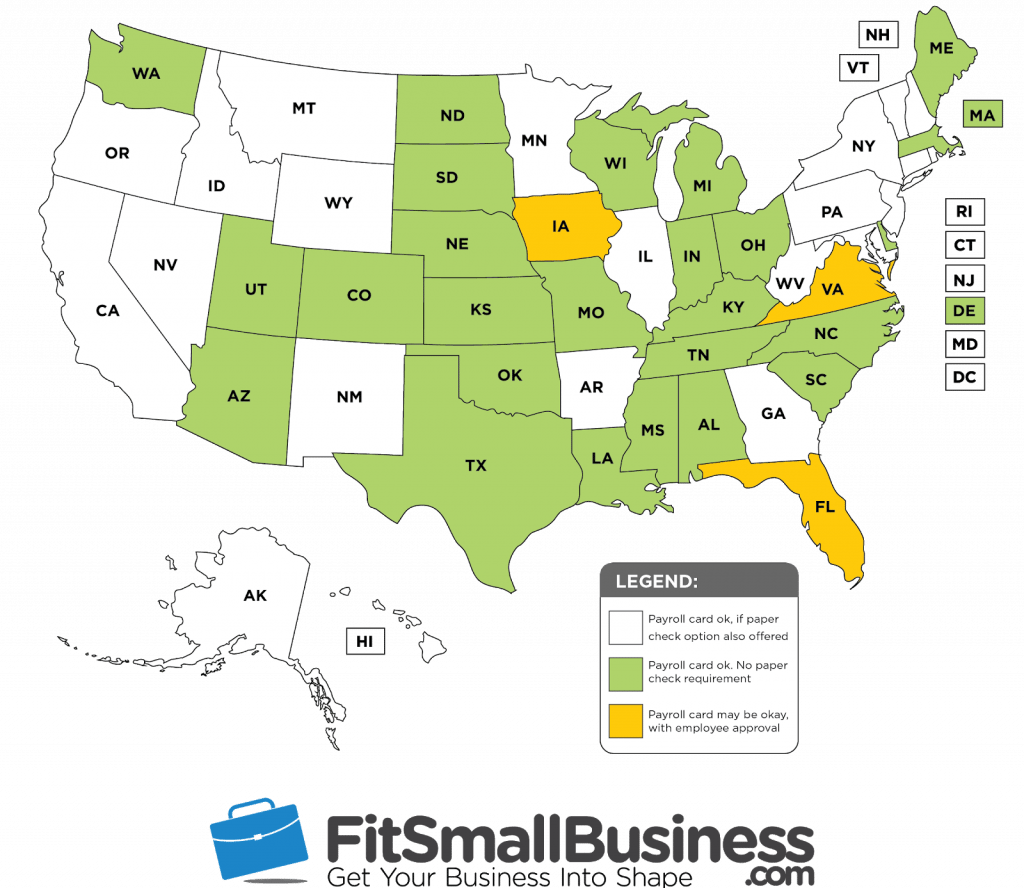 payroll card regulations by state