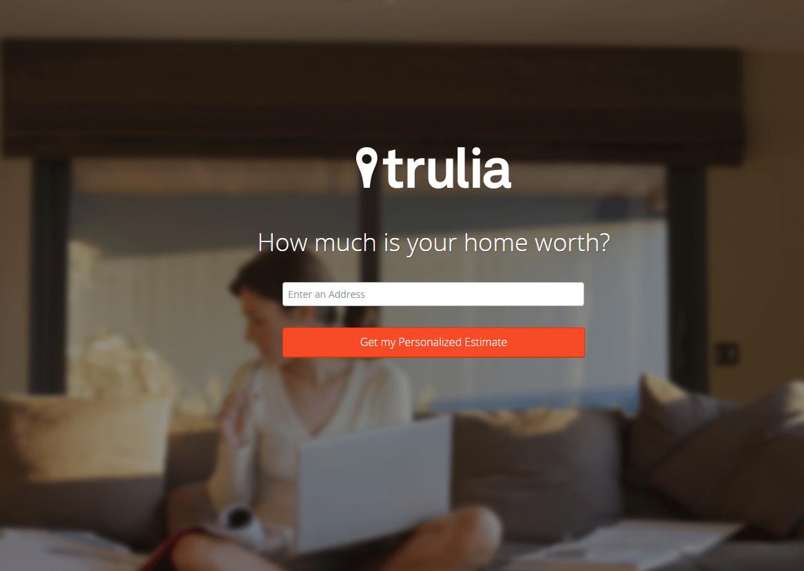 Trulia landing page - real estate landing pages