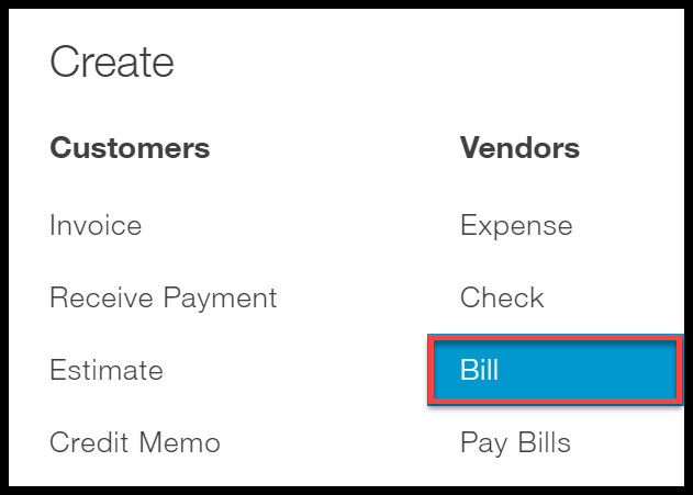 select bill quickbooks online how to enter bills in quickbooks online