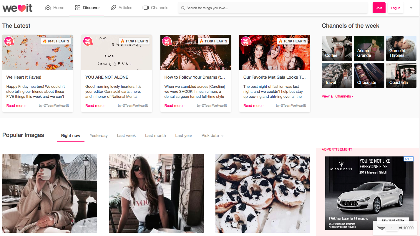 WeHeartIt for Networking