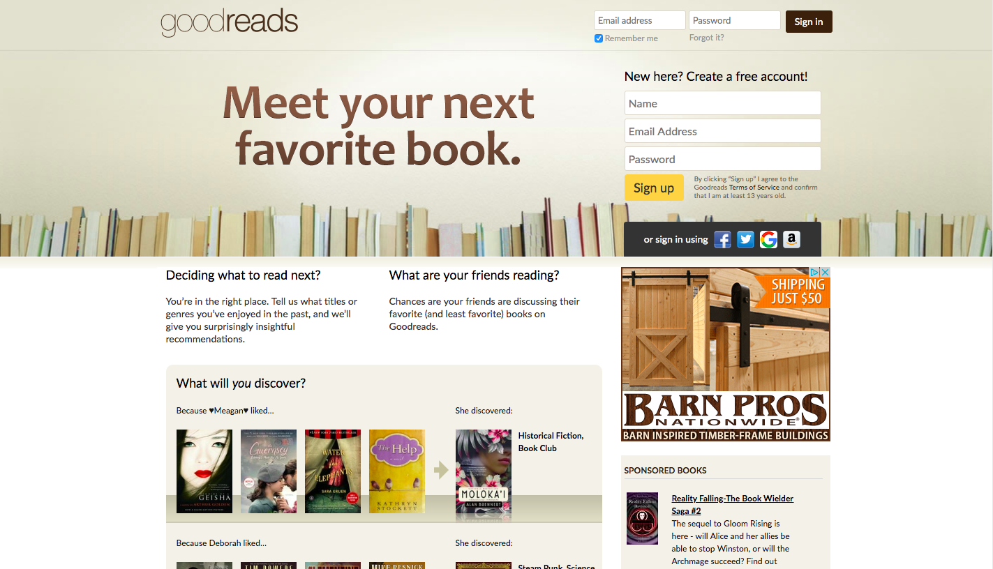Goodreads for Networking
