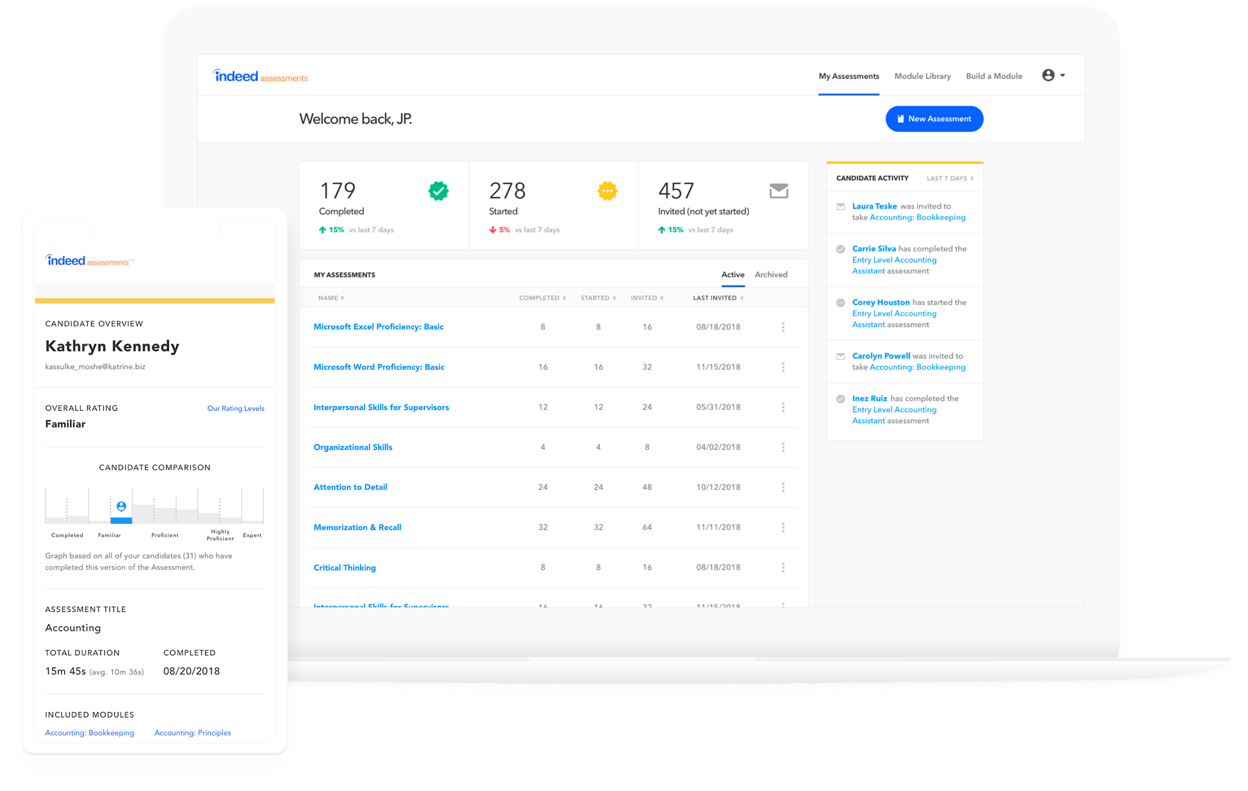 indeed's applicant tracking system page
