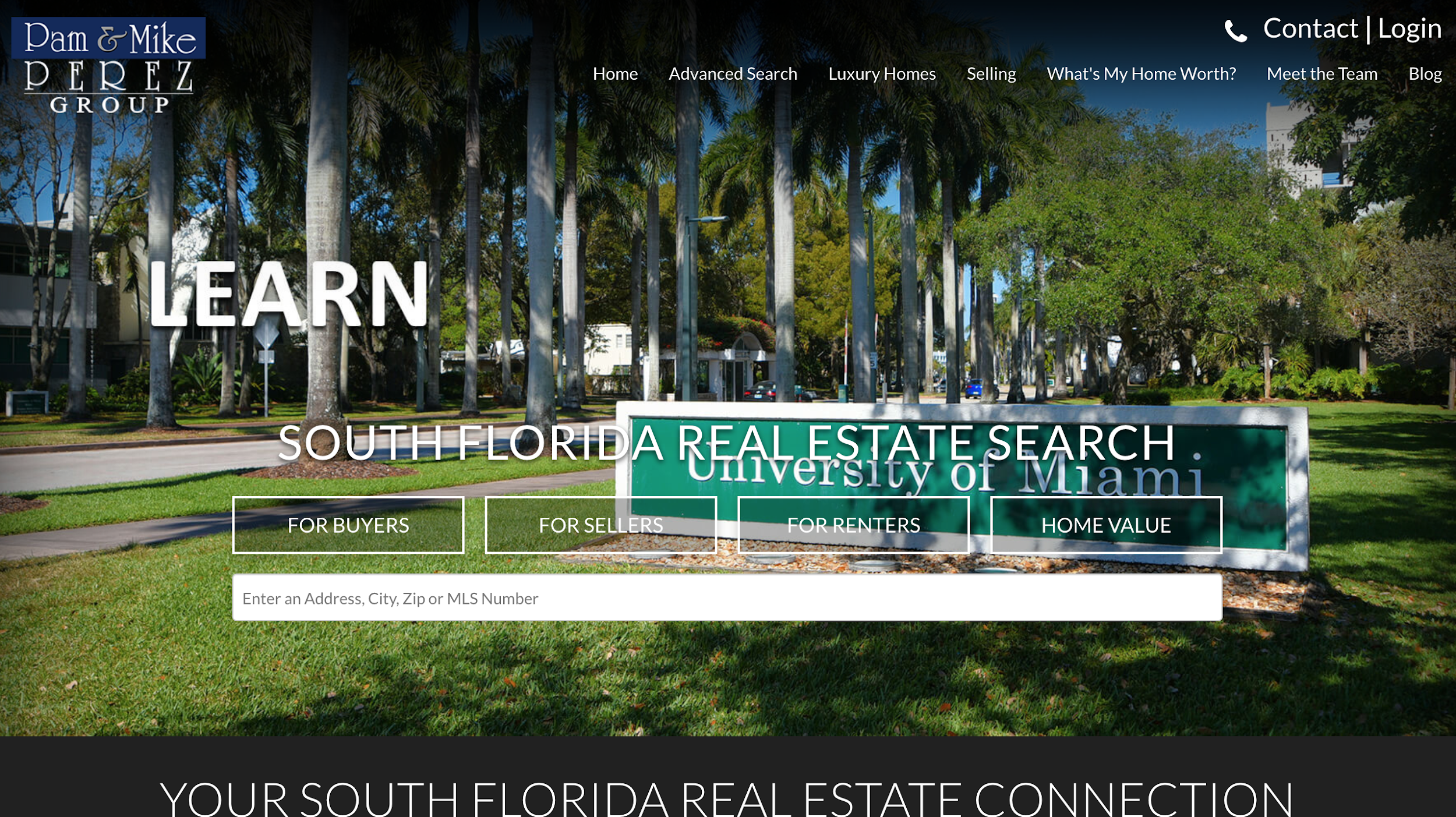 Pam and Mike Perez Group - real estate landing pages