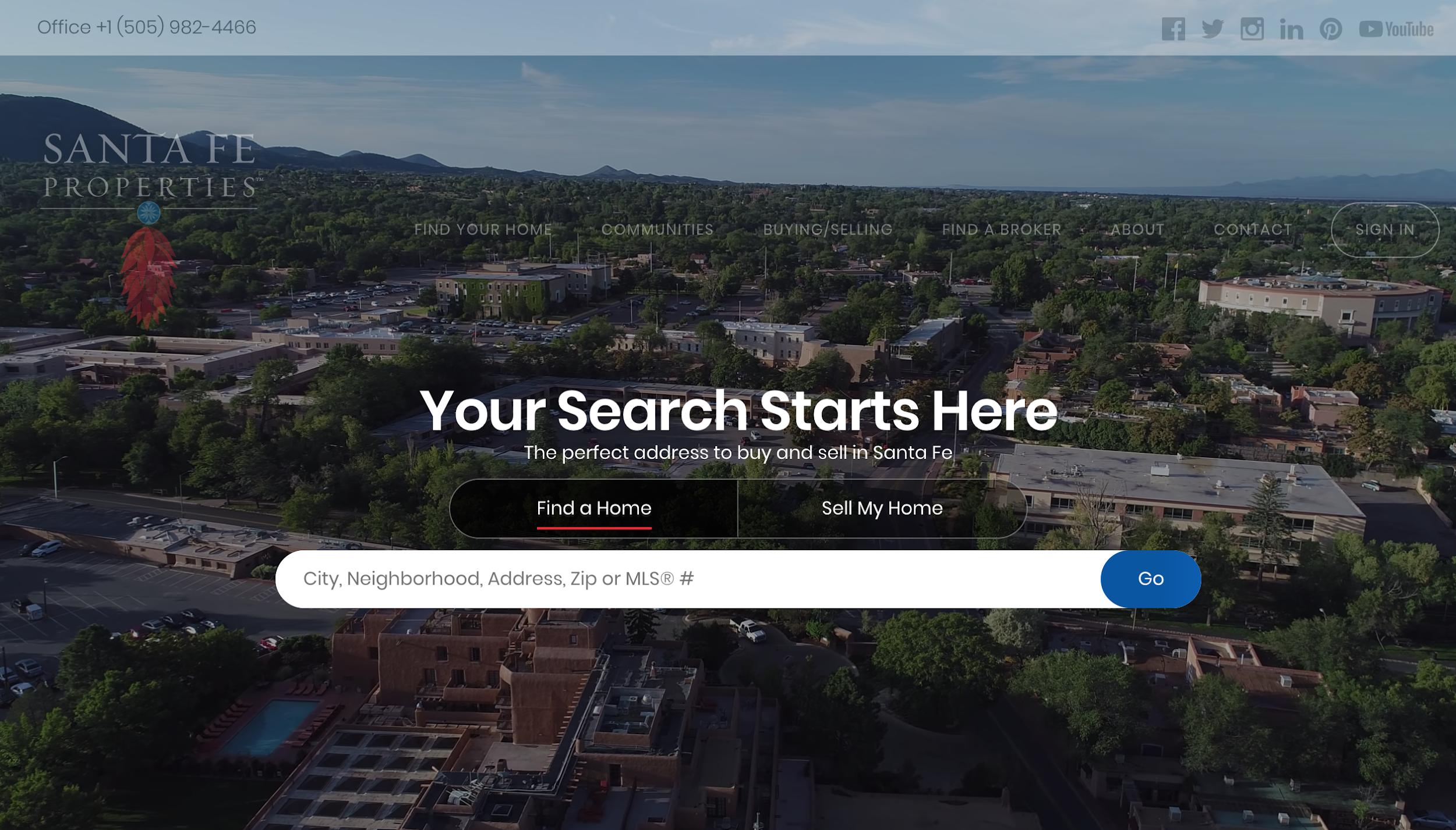 Santa Fe Properties - real estate landing pages