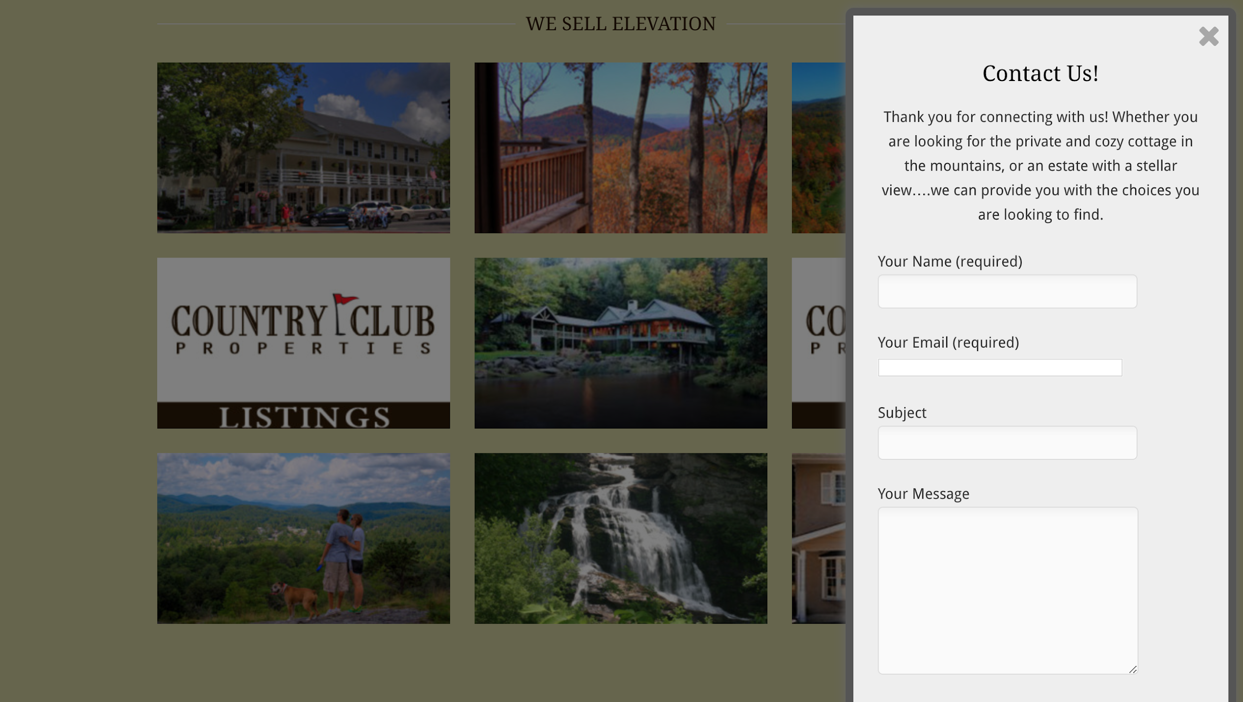 Country Club Properties - real estate landing pages