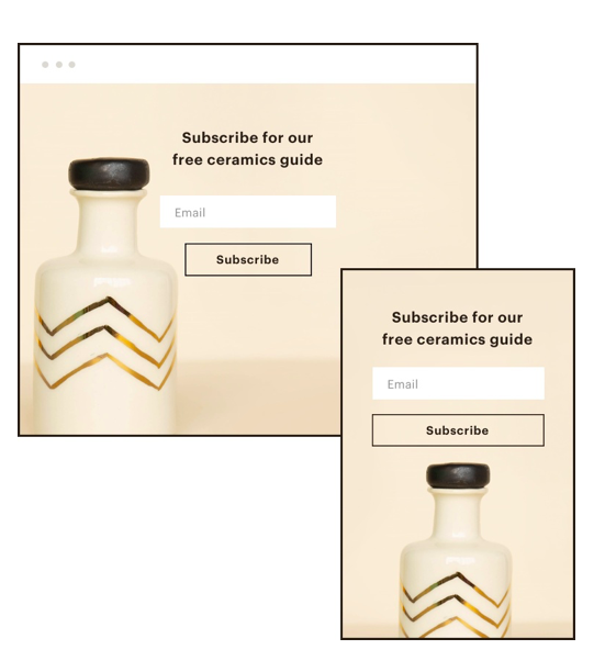 Mailchimp Email Signup Landing Page - squarespace plugins