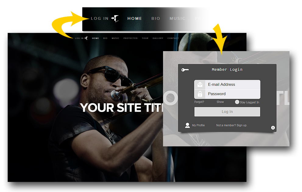SentryLogin Preview Image - squarespace plugins