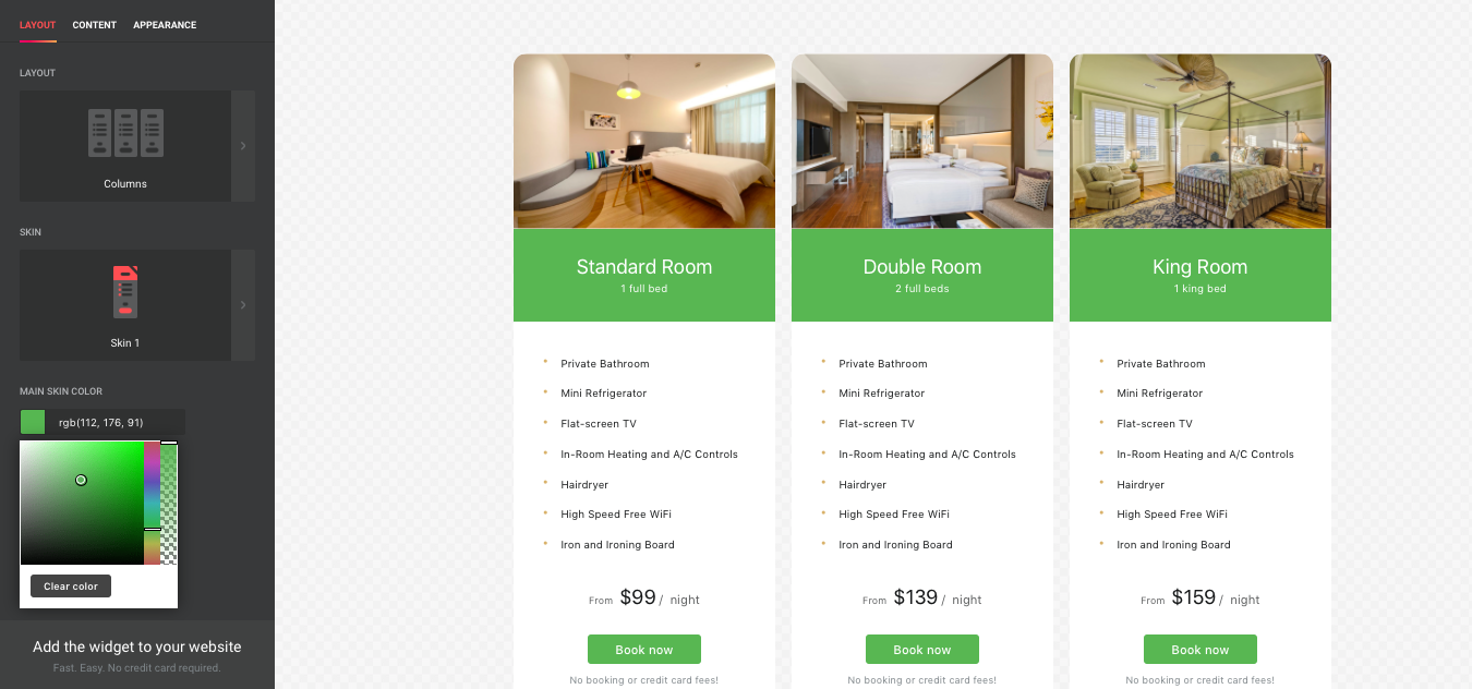 Pricing Table - squarespace plugins