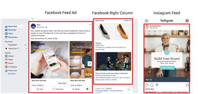 Facebook Ad Placement examples