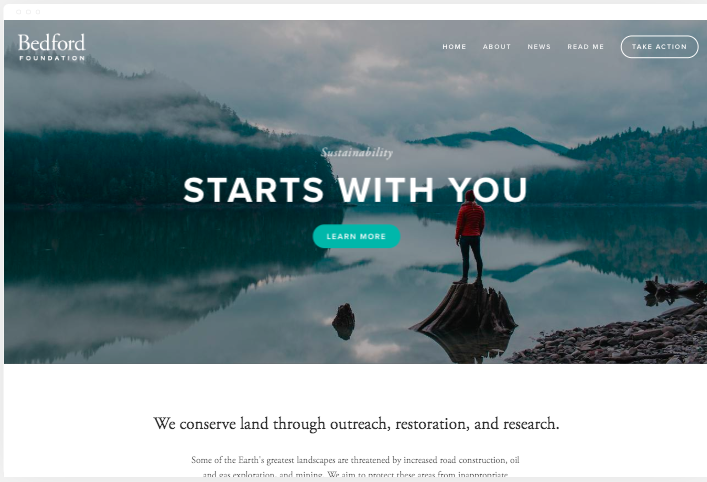 bedford free squarespace template