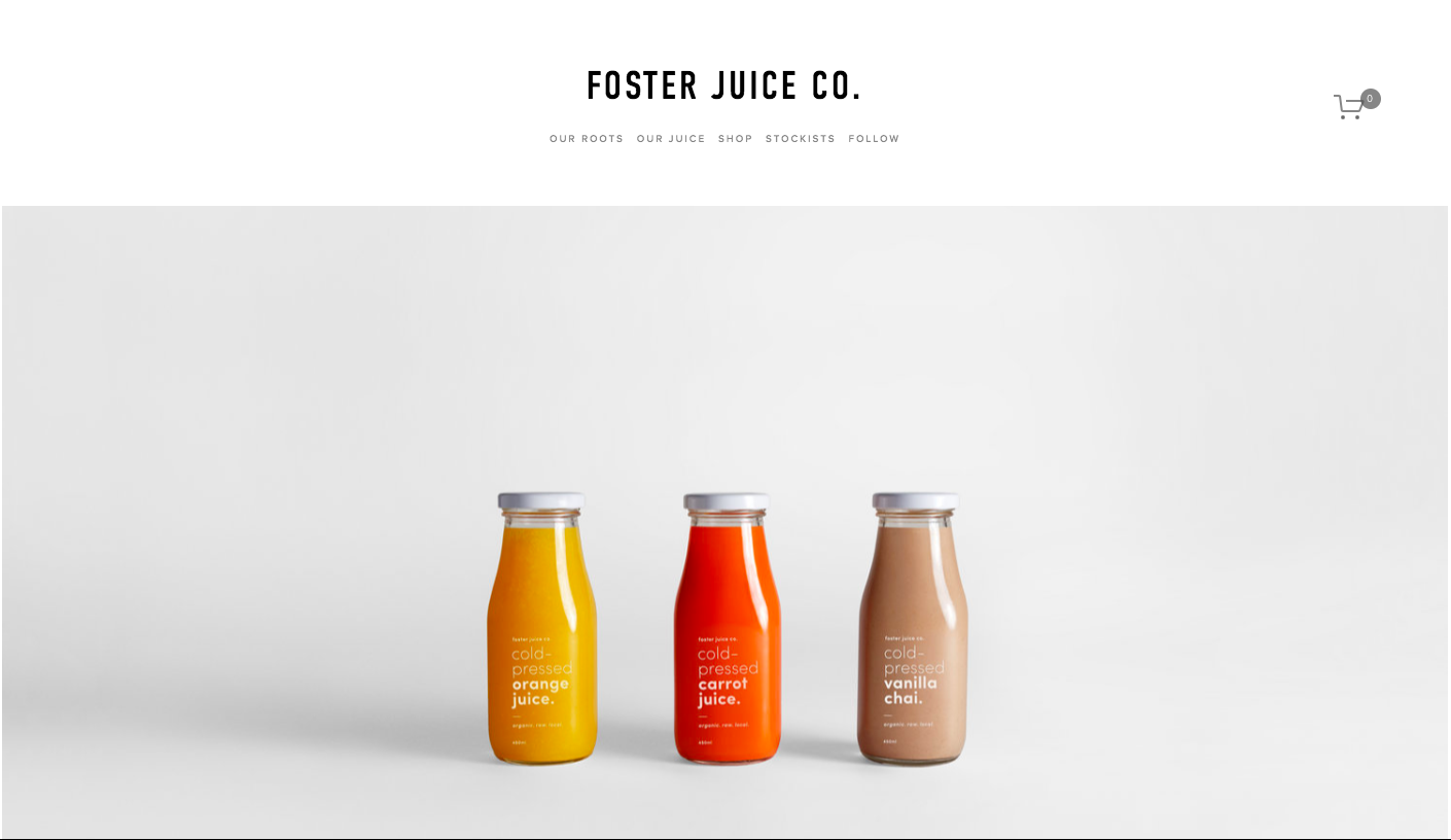 foster free squarespace template