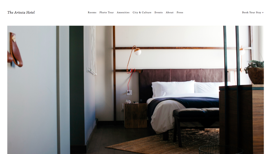 Best Squarespace template for hotels