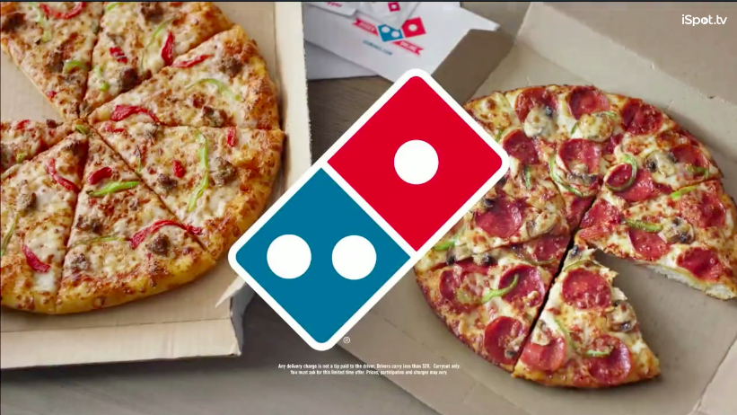Dominos Commercial Example - tv advertising