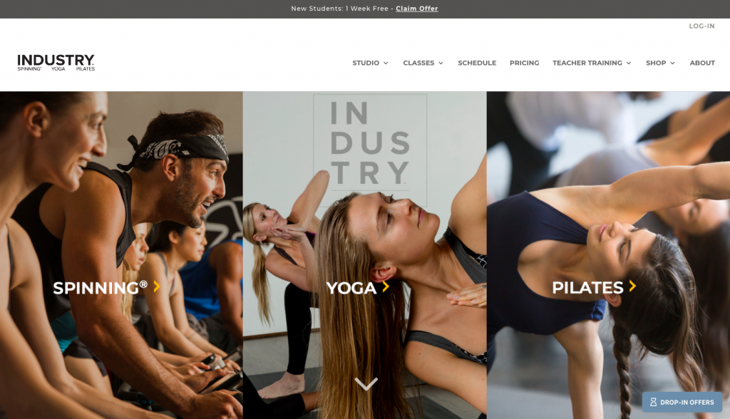 Industry - web design inspiration