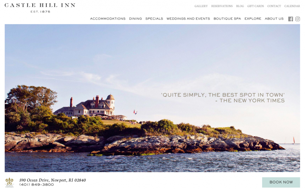 Castle Hill Inn - web design inspiration