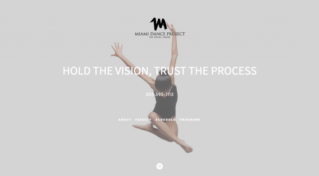 Miami Dance Project - web design inspiration