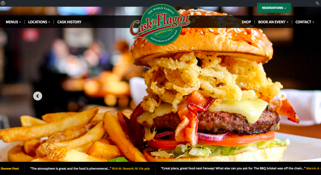 Cask 'n Flagon - web design inspiration